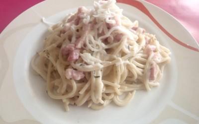 Esparguete a Carbonara