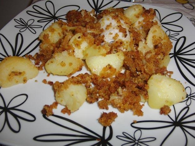 Batatas salteadas com Farinheira