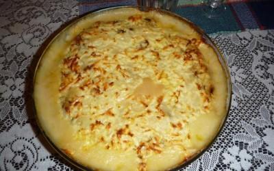 Bacalhau com molho de queijo