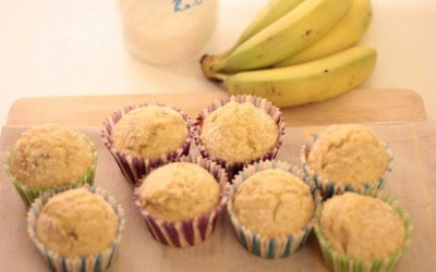 Muffins de Banana e Coco