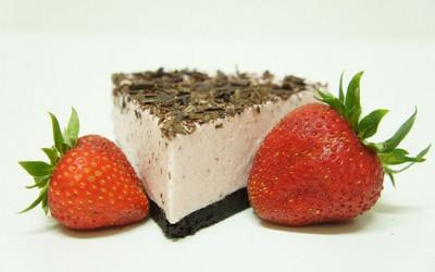 Cheesecake de Morangos e Chocolate