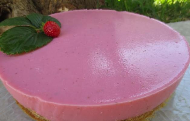 Semi-Frio de Iogurte, Morango e Caramelo