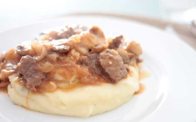Estufado de Carne de Vaca com Tomate e Cogumelos