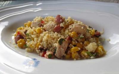 Salada de Couscous com Frango e Misto de Legumes