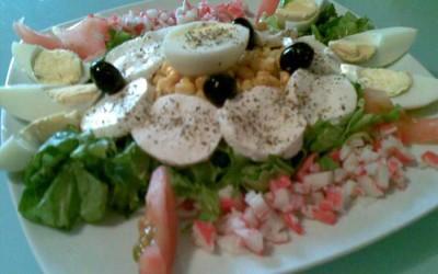 Salada de Ovo e Tomate