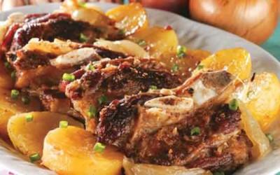Assado de costelas e batatas