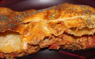 Empanada de atum e cogumelos