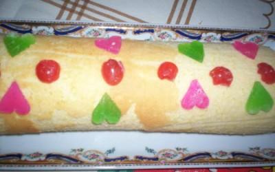 Torta com frutas cristalizadas