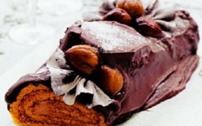 Tronco de Natal (Castanhas e Chocolate)