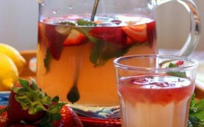 Limonada de morangos