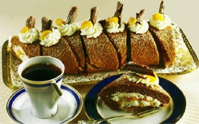 Torta de Chocolate e Tangerina