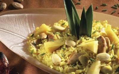 Arroz de frango com ananás