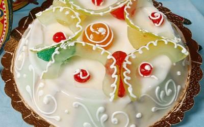 Bolo Fantasia de Natal com Fruta Cristalizada