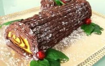 Tronco de Natal com Baunilha