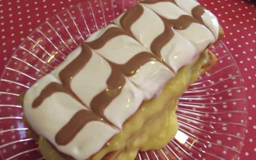 Mil Folhas com Creme de Pasteleiro Caseiro (Bimby)- Vídeo