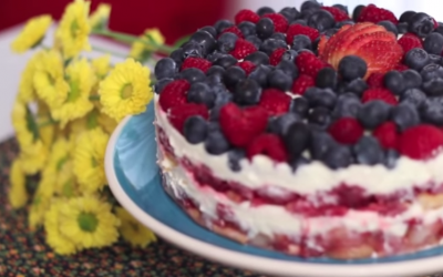 Pavê de Frutas Vermelhas- Vídeo