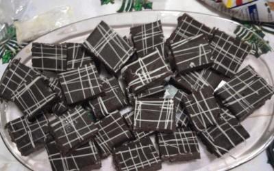 Chocolates after-eight caseiros