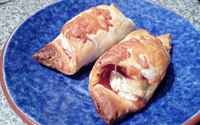 Folhados de Camembert e Chourição
