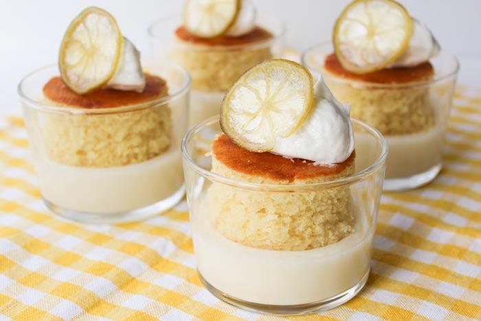 Sobremesa de coco e limão