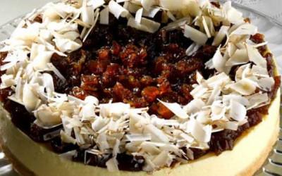 Torta cremosa de figo caramelado