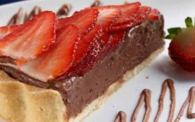Torta de Nutella e morango