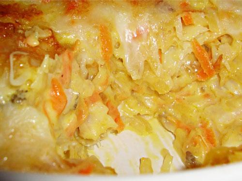 Bacalhau com Cenoura gratinado