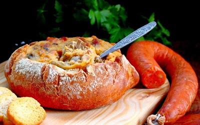 Pão Recheado com Farinheira Cogumelos e Azeitonas