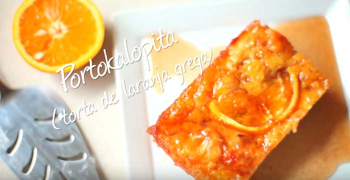 Como fazer torta de laranja grega