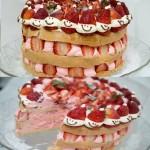 Naked Cake de Morango Natalino