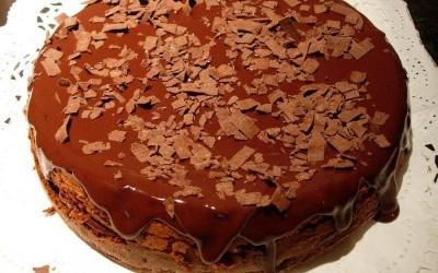 Bolo de chocolate com Moscatel