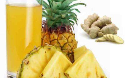 Cubos de abacaxi com gengibre para perder até 4 kg por semana