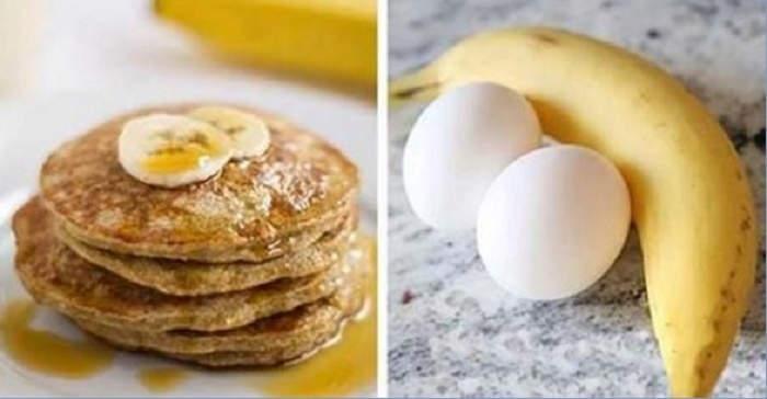 Deliciosa panqueca de banana que fica pronta em 5 minutos