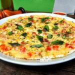 Pizza saudável de tapioca é saborosa e sem gluten