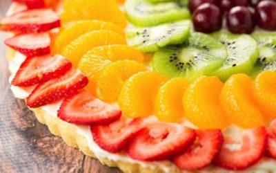 Pizza de frutas muito facil  de preparar e refrescante