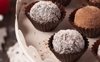 Brigadeiros de Chocolate e Coco