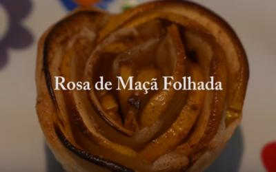 Rosa de Maçã Folhada- Vídeo 1001 Receitas Fáceis