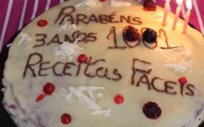 Bolo de Aniversário de Chocolate com com Recheio de Frutos Silvestres – Vídeo 1001 Receitas Fáceis
