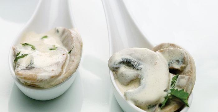 Cogumelos em Molho de Mostarda