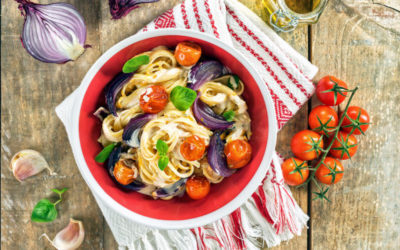 Linguine Cremoso com Tomate Cereja
