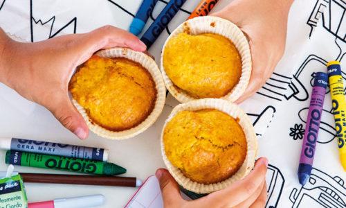 Muffins de cenoura e laranja