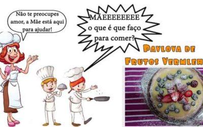 Pavlova de creme de pasteleiro e frutos vermelhos #mãeoqueéquefaçoparacomer