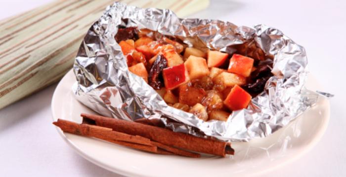Pacote de frutas e mel