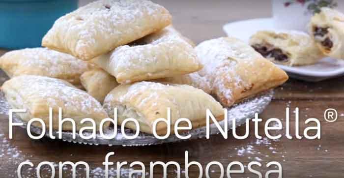 Folhado de Nutella® com framboesa