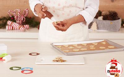 Línguas De Gato De Natal com Nutella