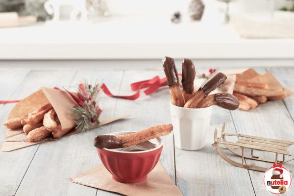 Churros com Nutella