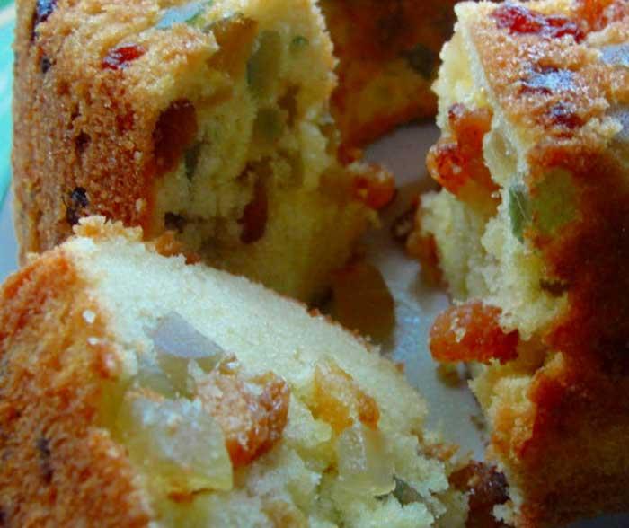 Torta de fruta cristalizada