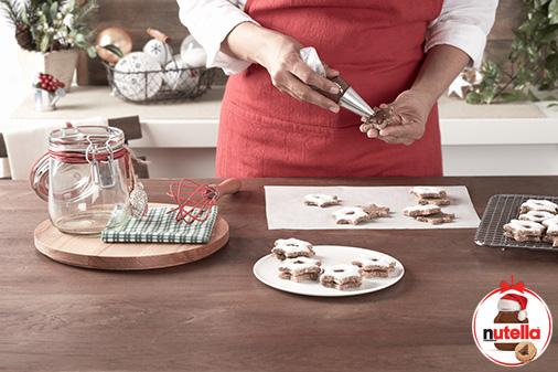 Estrelas de canela com Nutella