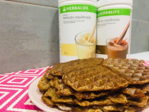 WAFFLES SAUDÁVEIS DE CHOCOLATE  -HERBALIFE NUTRITION