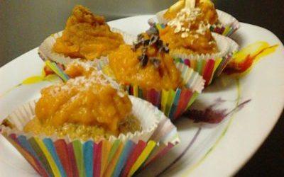 Cupcakes cobertos com Batata-Doce