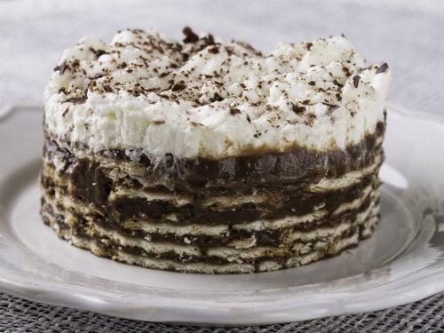 torta de bolacha com chocolate